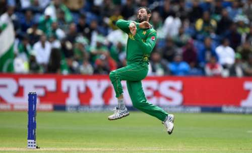 CARDIFF, WALES - JUNE 12:  Pakistan bowler Junaid Khan in action during the ICC Champions League match between Sri Lanka and Pakistan at SWALEC Stadium on June 12, 2017 in Cardiff, Wales.  (Photo by Stu Forster/Getty Images)