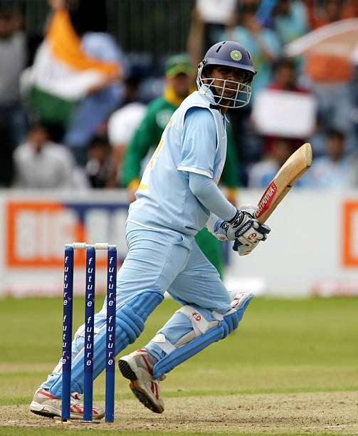 BELFAST, UNITED KINGDOM - JUNE 26:  Rahul Dravid of India clips the ball away during the Future Cup one day international match between India and South Africa at the Civil Service Cricket Ground, Stormont on June 26, 2007 in Belfast, Northern Ireland.  (Photo by Richard Heathcote/Getty Images)