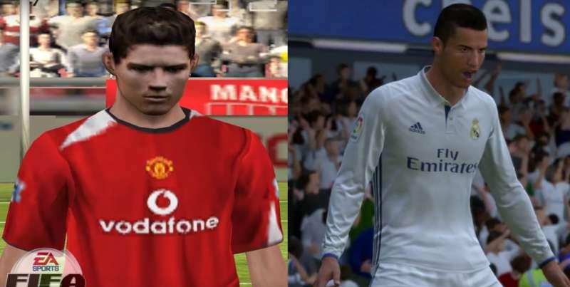 cf1e3f73079 FIFA 18  Cristiano Ronaldo s evolution from 2005 to 2018