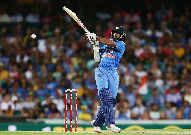 SYDNEY, AUSTRALIA - JANUARY 31:  Shikhar Dhawan of India bats during the International Twenty20 match between Australia and India at Sydney Cricket Ground on January 31, 2016 in Sydney, Australia.  (Photo by Matt King/Getty Images)