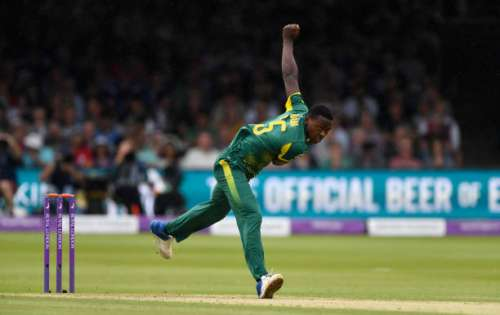 LONDON, ENGLAND - MAY 29:  South Africa bowler Kagiso Rabada in action during the 3rd Royal London Cup match between England and South Africa at Lord's Cricket Ground on May 29, 2017 in London, England.  (Photo by Stu Forster/Getty Images)
