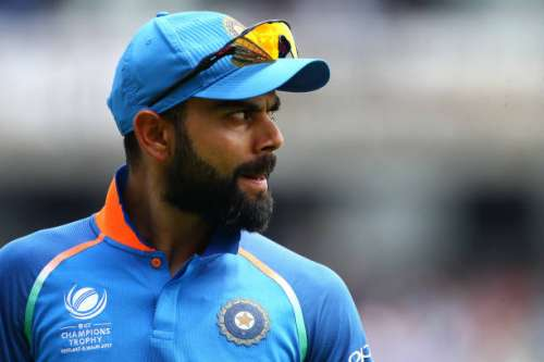 LONDON, ENGLAND - JUNE 18: Virat Kohli of India during the ICC Champions Trophy Final match between India and Pakistan at The Kia Oval on June 18, 2017 in London, England. (Photo by Charlie Crowhurst/Getty Images)
