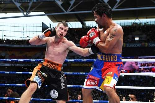 Boxing - Manny Pacquiao v Jeff Horn - WBO World Welterweight Title - Brisbane, Australia - July 2, 2017. Manny Pacquiao of the Philippines and Jeff Horn of Australia fight. AAP/Dave Hunt/via REUTERS