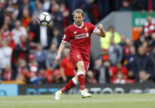 Britain Football Soccer - Liverpool v Middlesbrough - Premier League - Anfield - 21/5/17 Liverpool's Lucas Leiva in action Action Images via Reuters / Carl Recine Livepic