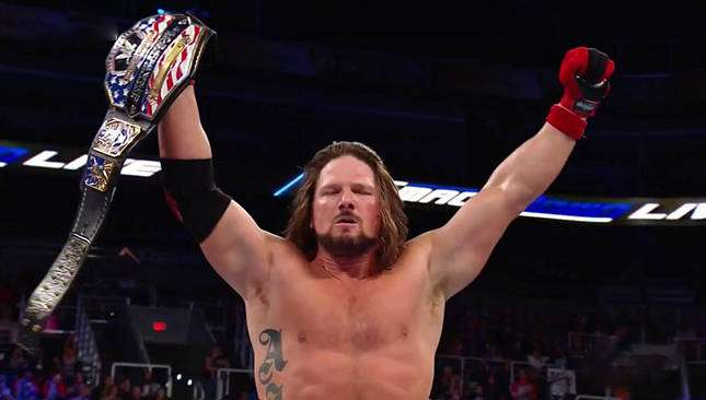 Image result for aj styles united states championship