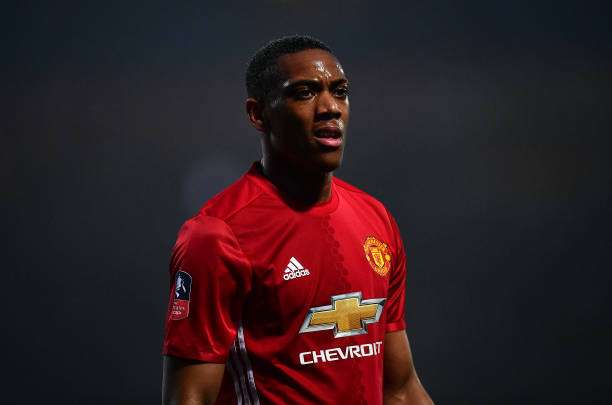 BLACKBURN, ENGLAND - FEBRUARY 19: Anthony Martial of Manchester United looks on during the Emirates Cup Fifth Round match between Blackburn Rovers and Manchester United at Ewood Park on February 19, 2017 in Blackburn, England. (Photo by Dan Mullan/Getty Images)