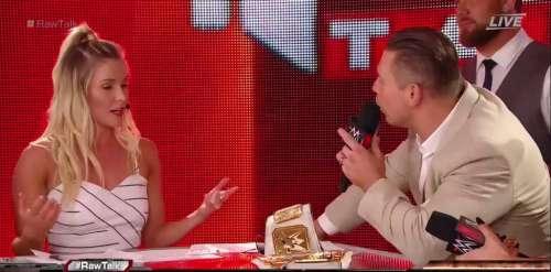 The Miz made an appearance on RAW Talk
