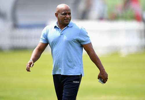 LONDON, ENGLAND - JUNE 08:  Chairman of Selectors Sanath Jayasuriya during a nets session ahead of the 1st Investec Test match between England and Sri Lanka at Lord's Cricket Ground on June 8, 2016 in London, United Kingdom.  (Photo by Gareth Copley/Getty Images)