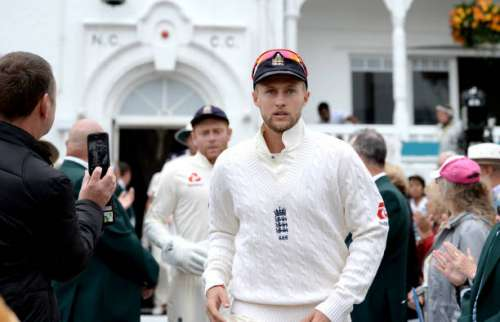 NOTTINGHAM, ENGLAND - JULY 14:  England captain Joe Root leads out his team ahead of day one of the 2nd Investec Test match between England and South Africa at Trent Bridge on July 14, 2017 in Nottingham, England.  (Photo by Gareth Copley/Getty Images)