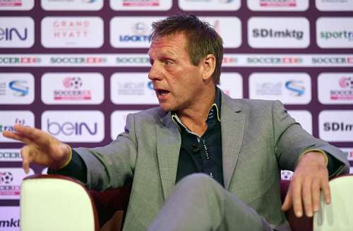 DOHA, QATAR - DECEMBER 05:  Former England football player, Stuart Pearce speaks during day two of Soccerex Asia on December 5, 2016 in Doha, Qatar.  (Photo by Tom Dulat/Getty Images)