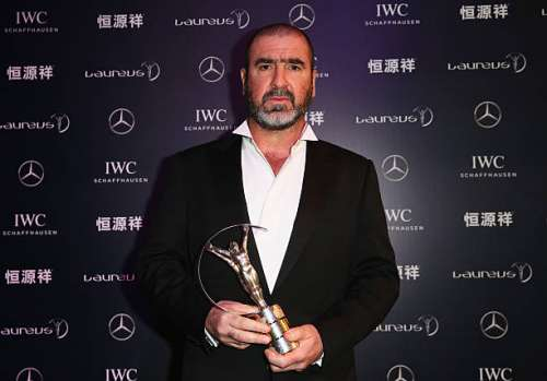 SHANGHAI, CHINA - APRIL 15:  Former Footballer Eric Cantona of France attends the 2015 Laureus World Sports Awards at Shanghai Grand Theatre on April 15, 2015 in Shanghai, China.  (Photo by Ian Walton/Getty Images for Laureus)
