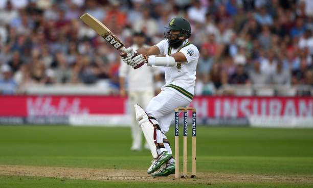 NOTTINGHAM, ENGLAND - JULY 16:  Hashim Amla of South Africa bats during day three of the 2nd Investec Test match between England and South Africa at Trent Bridge on July 16, 2017 in Nottingham, England.  (Photo by Gareth Copley/Getty Images)