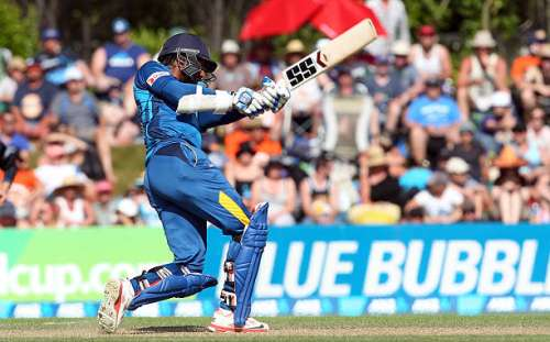 DUNEDIN, NEW ZEALAND - JANUARY 25: Kumar Sangakkara of Sri Lanka bats during the One Day International match between New Zealand and Sri Lanka at University Oval on January 25, 2015 in Dunedin, New Zealand.  (Photo by Rob Jefferies/Getty Images)