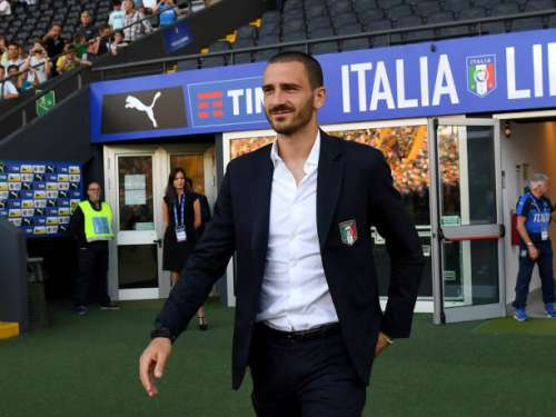 UDINE, ITALY - JUNE 11:  Leonardo Bonucci of Italy looks on prior to the FIFA 2018 World Cup Qualifier between Italy and Liechtenstein at Stadio Friuli on June 11, 2017 in Udine, Italy.  (Photo by Claudio Villa/Getty Images)