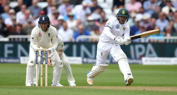 NOTTINGHAM, ENGLAND - JULY 14:  Quinton de Kock of South Africa bats during day one of the 2nd Investec Test match between England and South Africa at Trent Bridge on July 14, 2017 in Nottingham, England.  (Photo by Gareth Copley/Getty Images)