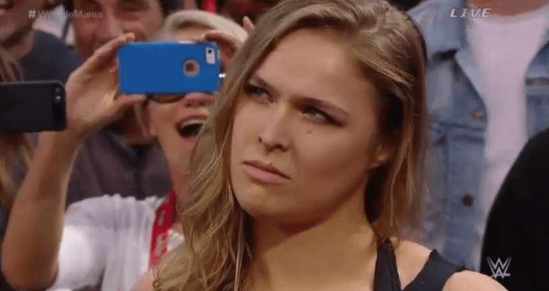 Wwe News Ronda Rousey Spotted At Ringside For The Mae