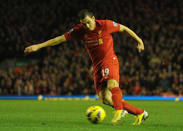 LIVERPOOL, ENGLAND - JANUARY 02:  Stewart Downing of Liverpool in action during the Barclays Premier League match between Liverpool and Sunderland at Anfield on January 2, 2013 in Liverpool, England.  (Photo by Chris Brunskill/Getty Images)