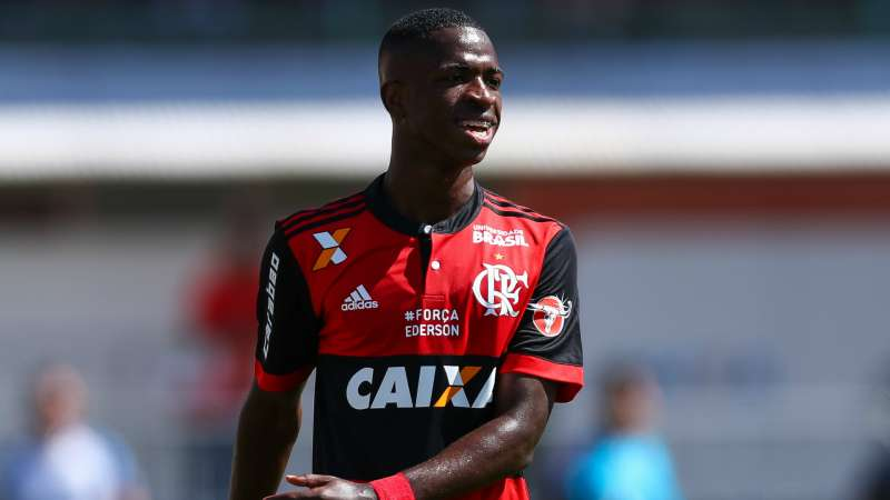 Real Madrid Bound Vinicius Scores First Professional Goal