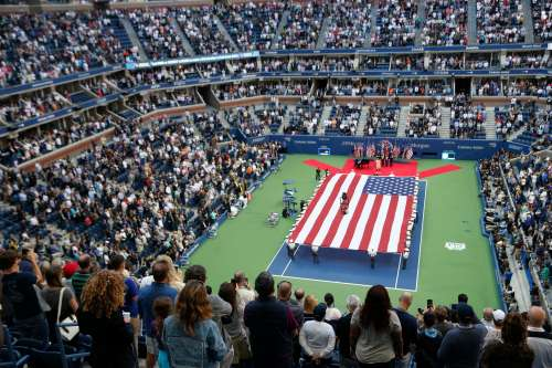 Tennis - US Open - Womens Final - New York, U.S. - September 9, 2017 - Opening ceremony before Sloane Stephens of the United States defeated compatriot Madison Keys. REUTERS/Shannon Stapleton