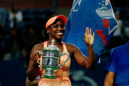 Tennis - US Open - Womens Final - New York, U.S. - September 9, 2017 - Sloane Stephens of the United States reacts after defeating Madison Keys of the United States. REUTERS/Andrew Kelly