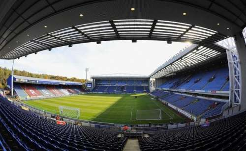 A view of Blackburn Rovers' Ewood Park stadium ahead of their English Premier League soccer match against Chelsea in Blackburn, northern England October 30, 2010. REUTERS/Nigel Roddis/Files