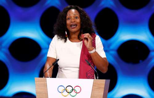 France Minister of Sport Laura Flessel gives a speech at the presentation of Paris 2024 at the 131st IOC session in Lima, Peru September 13, 2017. REUTERS/Mariana Bazo/Files