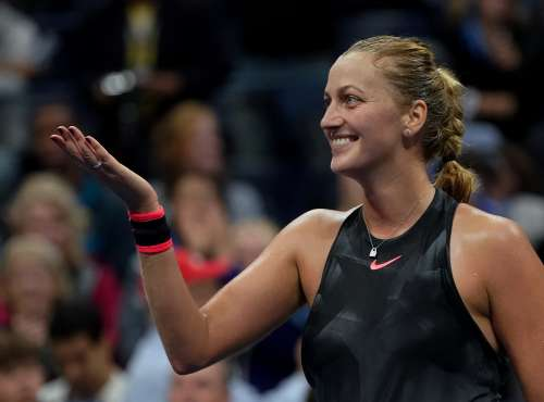 Tennis - US Open - New York, U.S. - September 3, 2017 - Petra Kvitova of the Czech Republic reacts after she defeated Garbine Muguruza of Spain during their fourth round match. REUTERS/Ray Stubblebine