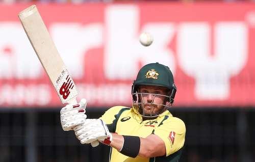Cricket - India v Australia - Third One Day International Match - Indore, India – September 24, 2017 – Australia's Aaron Finch plays a shot. REUTERS/Adnan Abidi
