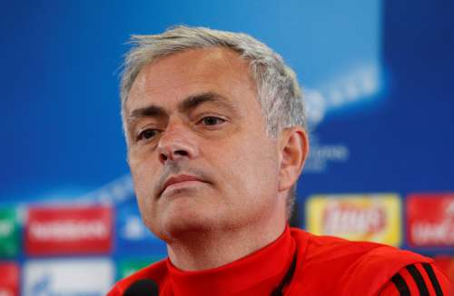 Soccer Football - Manchester United Press Conference - Moscow, Russia - September 26, 2017 Manchester United manager Jose Mourinho during the press conference REUTERS/Maxim Shemetov