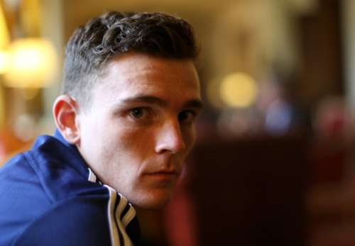 Football - Scotland Press Conference - Mar Hall Hotel & Spa, Bishopton, Scotland - 5/10/15 Scotland's Andy Robertson poses Action Images via Reuters / Russell Cheyne Livepic/File Photo EDITORIAL USE ONLY.