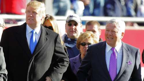 Donald Trump and Robert Kraft
