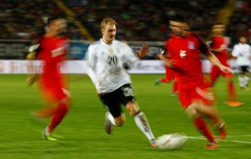 Soccer Football - 2018 World Cup Qualifications - Europe - Germany vs Azerbaijan - Fritz-Walter-Stadion, Kaiserslautern, Germany - October 8, 2017 Germany's Julian Brandt in action REUTERS/Kai Pfaffenbach