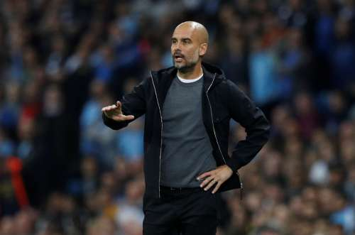 Soccer Football - Champions League - Manchester City vs Shakhtar Donetsk - Etihad Stadium, Manchester, Britain - September 26, 2017 Manchester City manager Pep Guardiola. REUTERS/Phil Noble