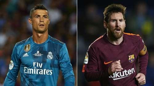 Cristiano Ronaldo v Lionel Messi - cropped