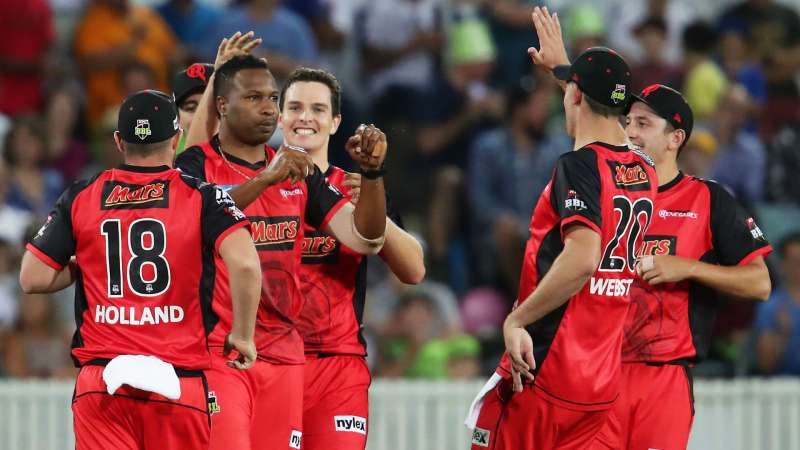 Melbourne Renegades celebrate.