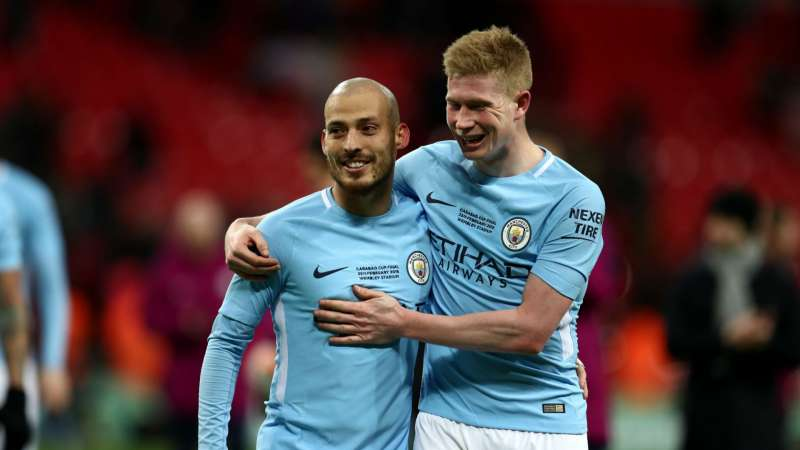 Image result for de bruyne silva kyle walker 2018/19