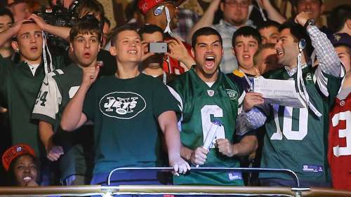 Jets fans at Radio City Music Hall