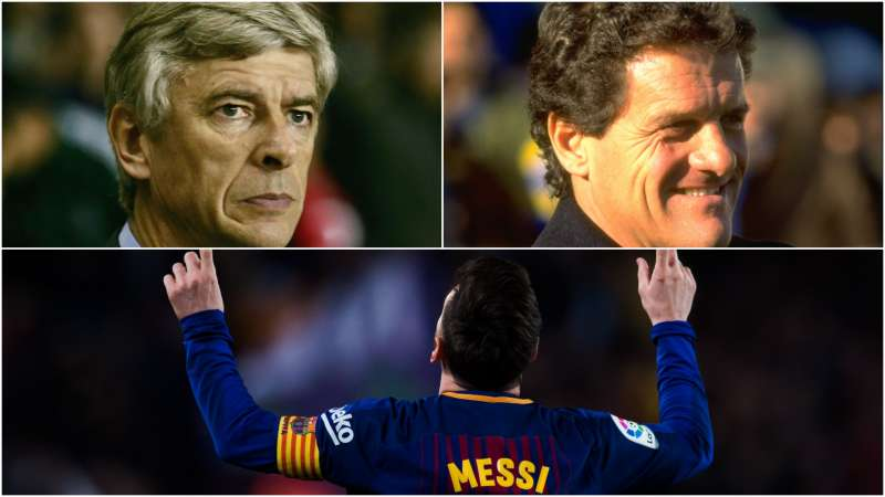 Arsene Wenger, Fabio Capello, Lionel Messi
