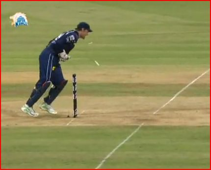 Adam Gilchrist at the Stumps