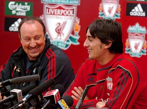 Aquilani was brought to Liverpool by Rafa Benitez