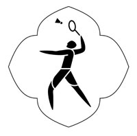 Logo for Badminton in CWG