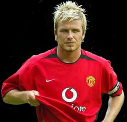 David Beckham featured in this match for Manchester United