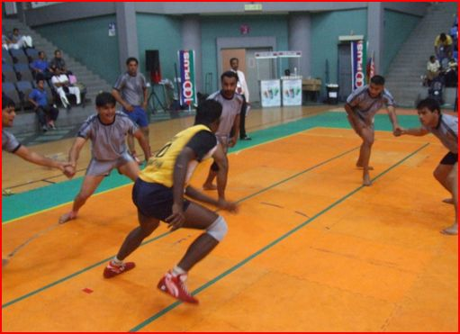 Indian Kabaddi team at practice