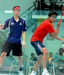 Aditya Jagtap in motion during World Junior Championship