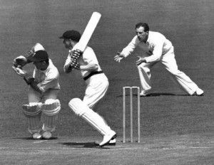 Bradman loved to employ cross batted shots
