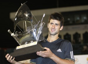 Serbian player Novak Djokovic